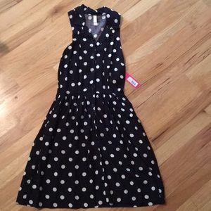 Xhilaration Black & White Polka Dotted Dress Sz Sm